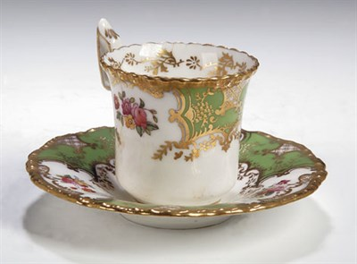 Lot 64 - A Coalport coffee service, apple green and...