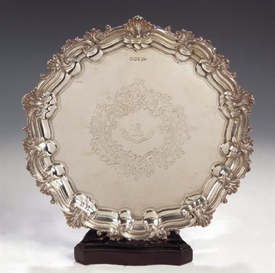 Lot 31 - A Victorian silver salver, with marks for...