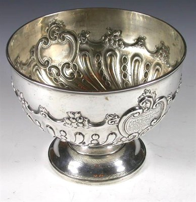 Lot 35 - A Victorian silver rose bowl, with marks for...