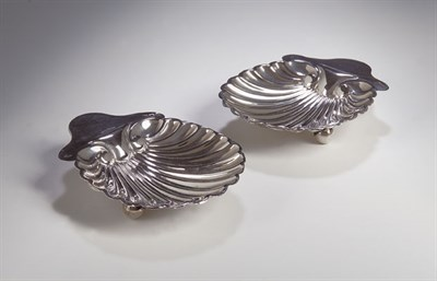 Lot 25 - A pair of Victorian silver ashtrays, with...