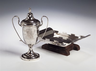 Lot 10 - A small Chinese parcel gilt silver trophy,...
