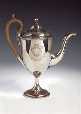 Lot 5 - An Old Sheffield plate coffee pot, of urn...