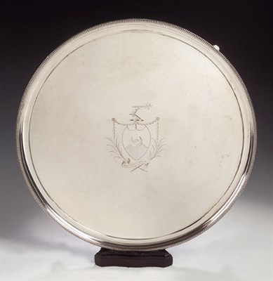Lot 3 - A large plated salver, of circular form, with...