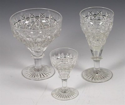 Lot 58 - A part suite of cut glass drinking glasses