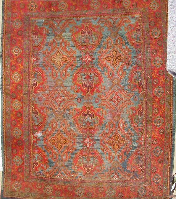 Lot 262 An Ushak Carpet