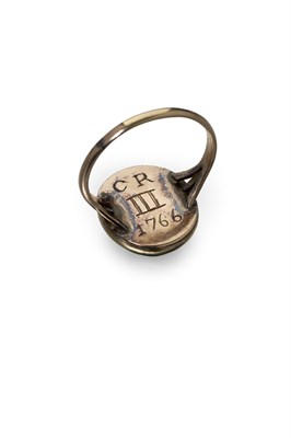 Lot 19-An eighteenth century Jacobite secret service ring